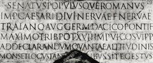 Inscripción en la columna de Trajano