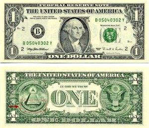 El simbolo Illuminati en los billetes de dólar