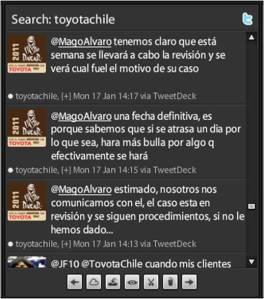 Toyota Chile fallando en redes sociales